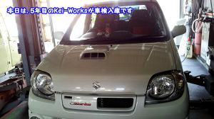 5年目のkei-Works、当然5速マニュアル♪